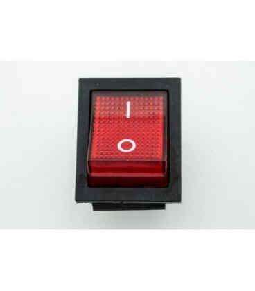 Кнопка Вкл/Выкл красная для генераторов 5 кВт - 6 кВт. (2391)