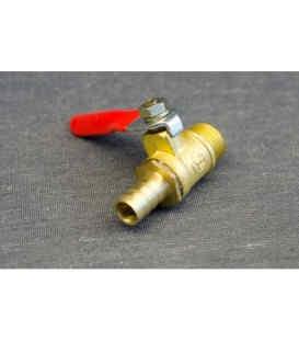 Кран клапан шариковый (резба наружная/штуцер) для компрессора (1621) Tiger