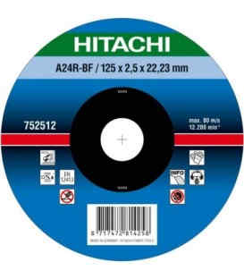Круг отрезнойHitachi125 х 2.5 х 22.2 мм ( 752512 )
