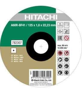 Круг отрезнойHitachi125 х 1.6 х 22.2 мм ( 782312 )