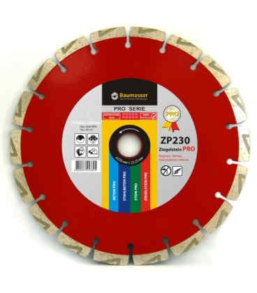 Алмазный отрезной круг по кирпичу Baumesser 1A1RSS/C3 125x2,2/1,4x8x22,23-10L-HIT Ziegelstein PRO (94315090010)