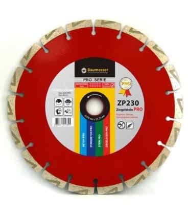Алмазный отрезной круг по кирпичу Baumesser 1A1RSS/C3 230x2,6/1,8x10x22,23-18L-HIT Ziegelstein PRO (94315090017)