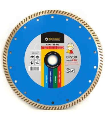 Алмазний відрізний круг по бетону Baumesser 230x2,6x9x22,23 Turbo Beton PRO (90215008017)