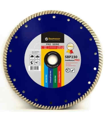 Алмазний відрізний круг по бетону Baumesser 230x2,6x9x22,23 Turbo Stahlbeton PRO (90215080017)