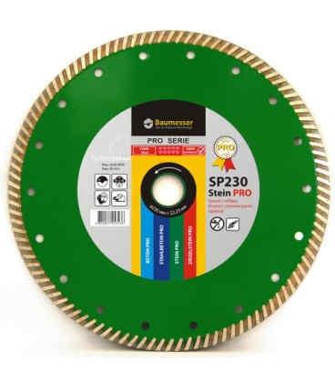 Алмазний відрізний круг по граніту Baumesser 230x2,6x9x22,23 Turbo Stein PRO (90215082017)